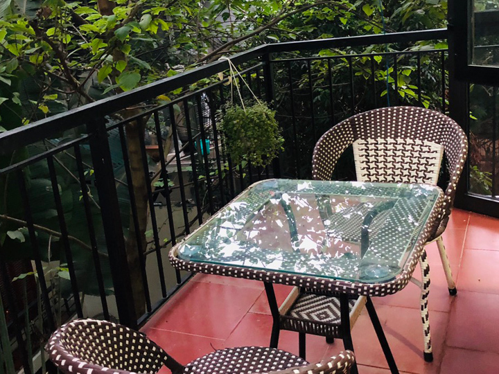 The studio has a balcony, full furniture for rent in To Ngoc Van, Tay Ho