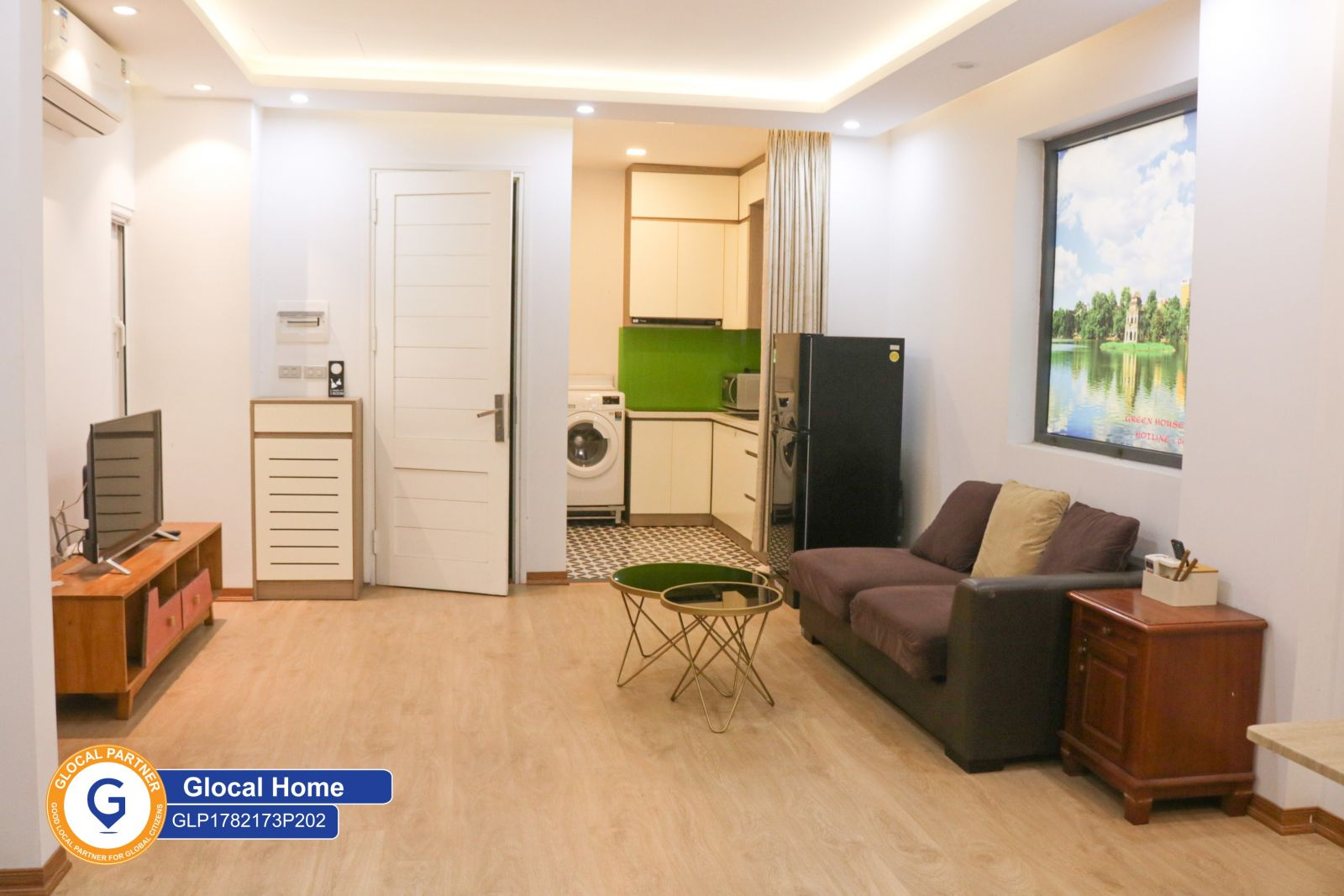 Studio room located in a green area on Nguyen Khac Hieu Street