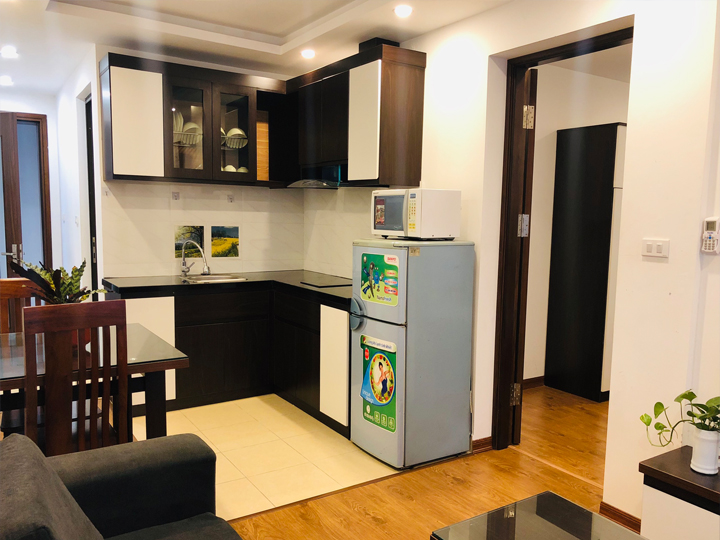 One bedroom apartment for rent with two windows at To Ngoc Van Street, Tay Ho District