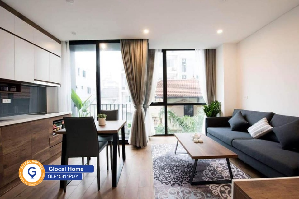 1 bedroom apartment, with balcony and beautiful view on Tay Ho street
