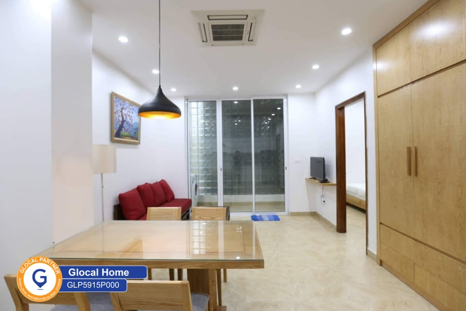 New 1-bedroom apartment with nice furniture in Dang Thai Mai