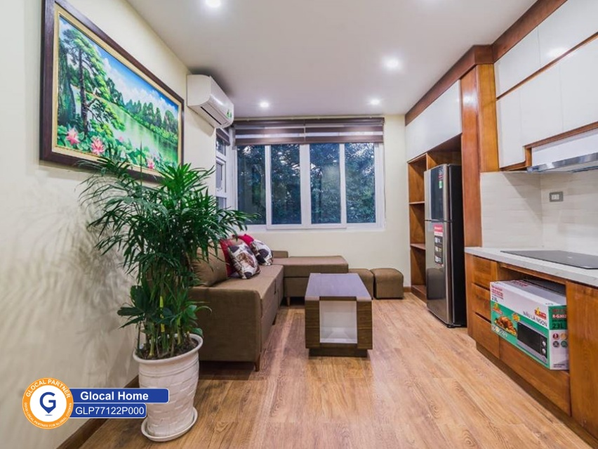 Apartment with 1 bedroom wooden floor, fully furnished in Vong Thi area