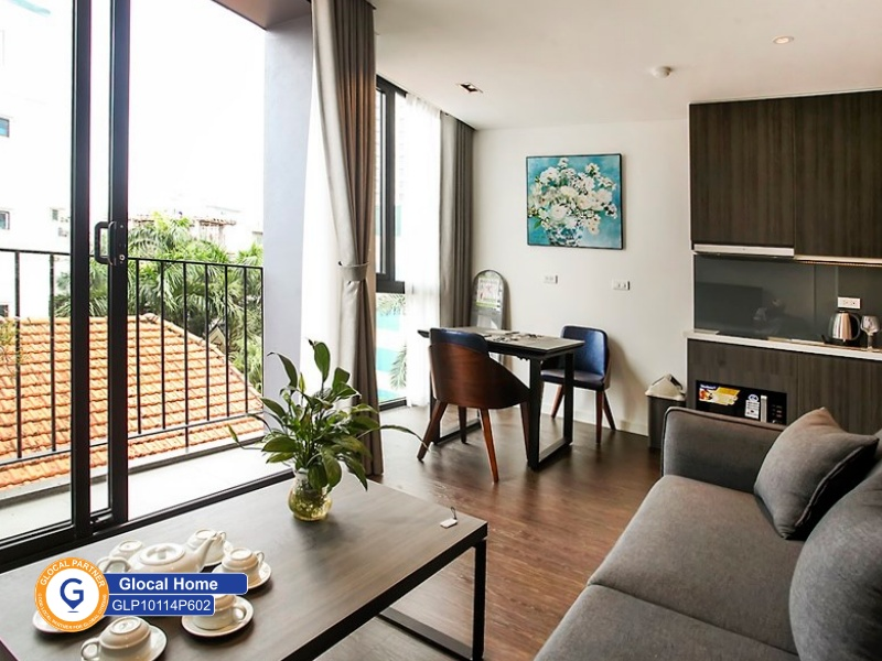 Modern 1-bedroom apartment with balcony in Tay Ho