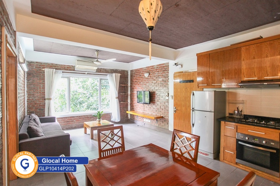 One-bedroom apartment with many windows and natural light in Tay Ho
