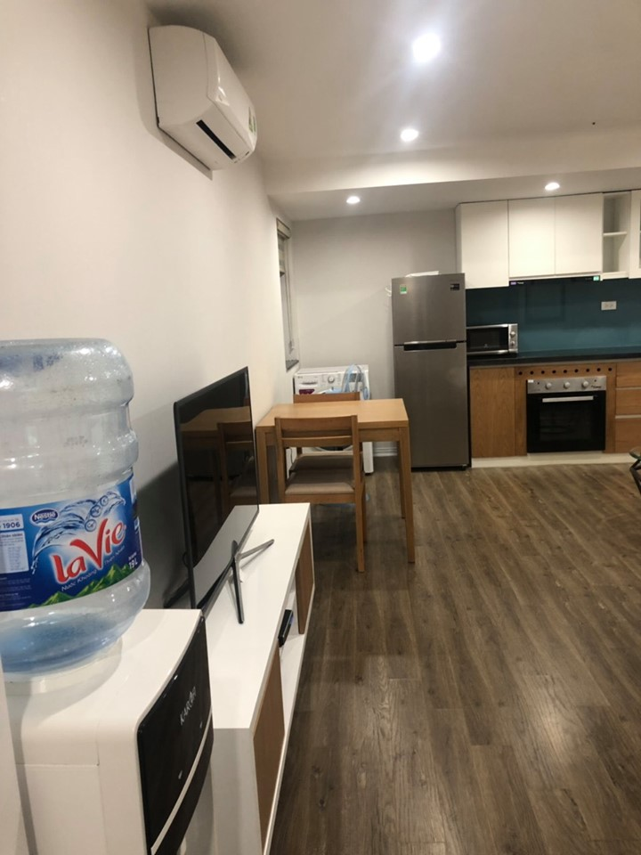 Fully furnished studio apartment, deep tone furniture in the center of Tay Ho district