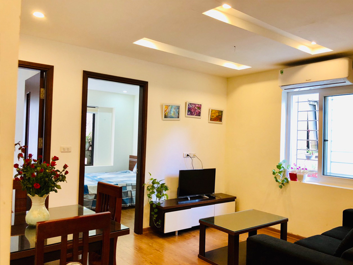 2 bedroom apartment for rent in the green area, surrounded by many facilities at To Ngoc Van Street, Tay Ho District.